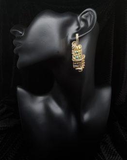 Solal Bijoux Haute Fantaisie boucles d'oreilles dorées