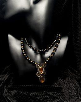 Collier noir et or Solal Bijoux Haute Fantaisie