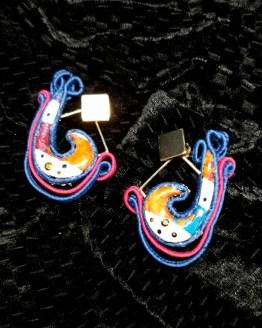 boucles d'oreilles bleu rose Solal Bijoux Haute Fantaisie