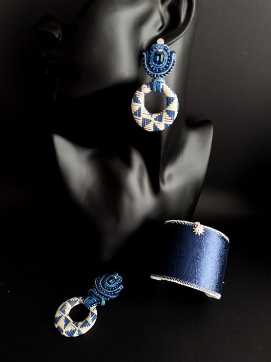 Bijou nomade bleu et écru Solal Bijoux Haute Fantaisie