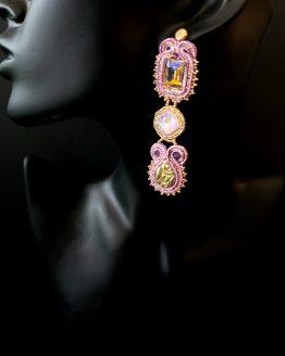 Boucles d'oreilles lilas Solal Bijoux Haute Fantaisie