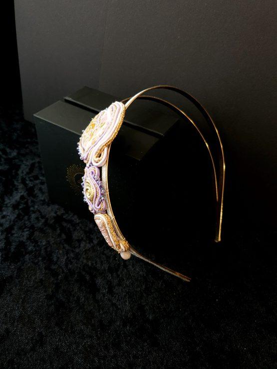 bijou de tête lilas Solal Bijoux Haute Fantaisie
