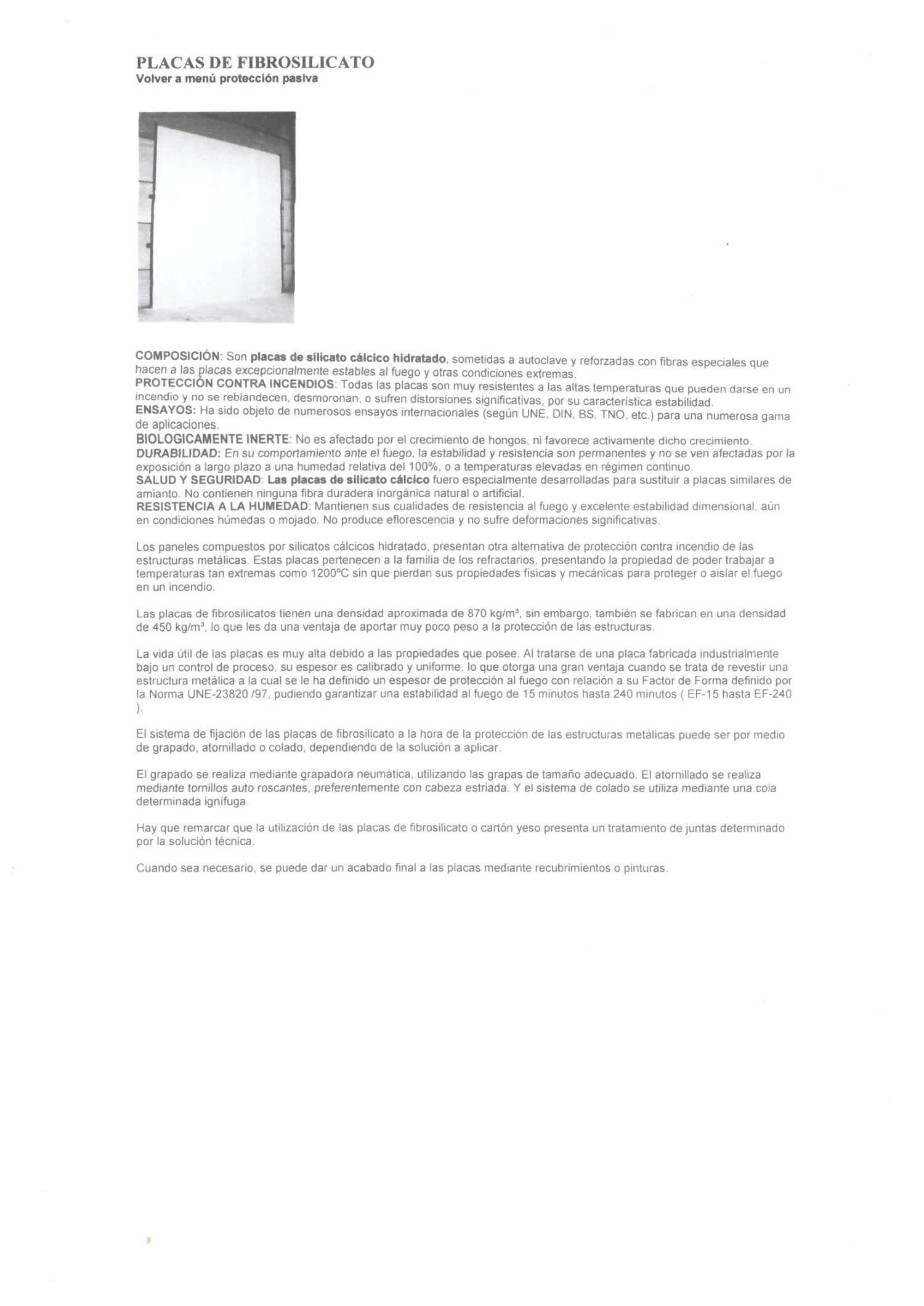 Grupo Solamaza placas de fibrosilicato