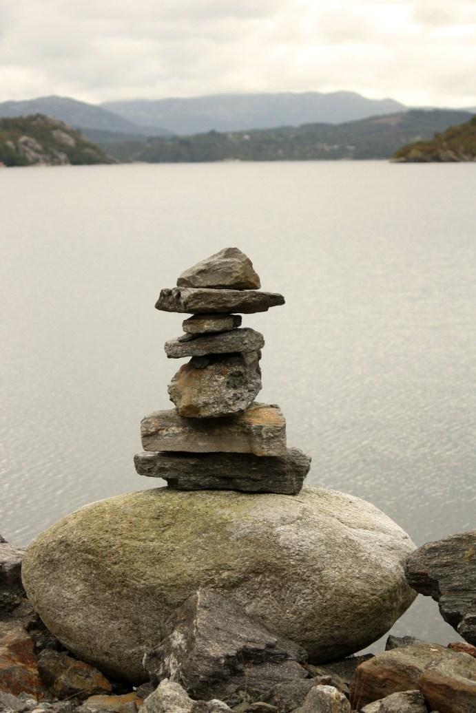 gestapelde stenen