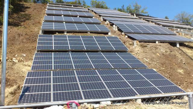 太陽光発電所の欠陥工事(岡山県某所)
