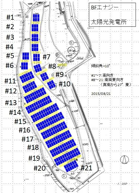 太陽光3号基パネルレイアウト(8/21)