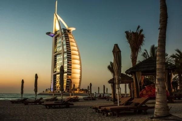 アラブ首長国連邦・ドバイの夕景