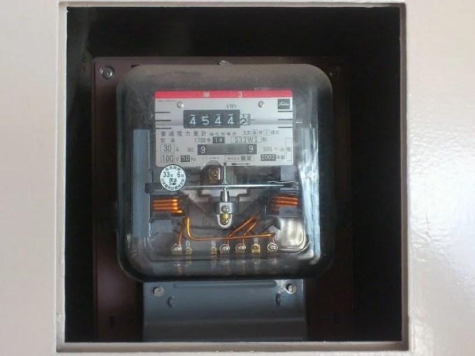 アナログの電力計