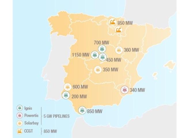солнечный портфель TOTAL - Испания