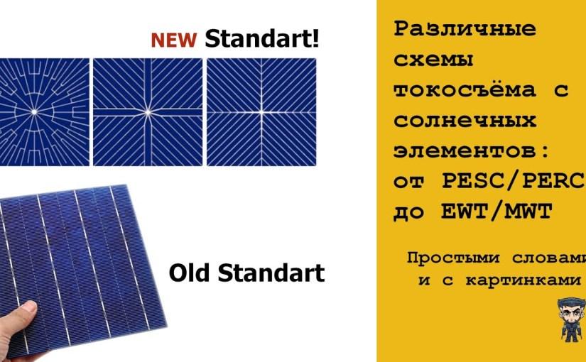 Различные системы токосъёма с солнечных элементов (с примерами)