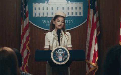 Ariana Grande, la primera presidenta de Estados Unidos en 'Positions'