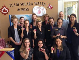 Team Solara Walks Across Canada Poster