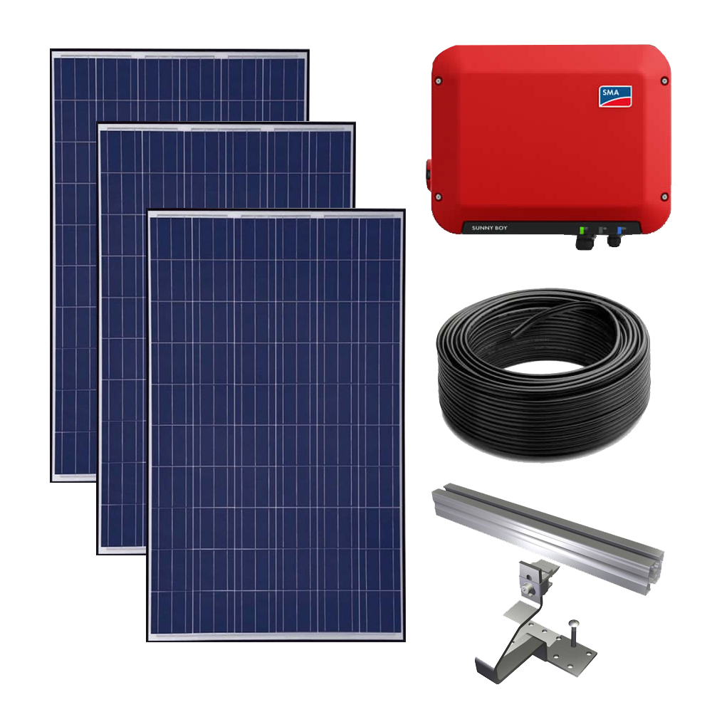 3kW Grid tied solar power kit – SMA