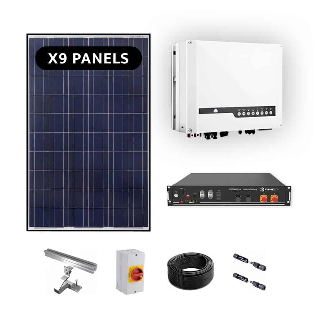 Goodwe 3.6kw – Lithium Storage 1.92kwh – Solar Power Kit