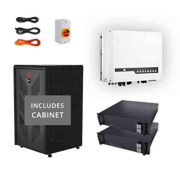 Hybrid Goodwe 4.6kw - BYD Lithium 5.12kwh Load Shedding Kit