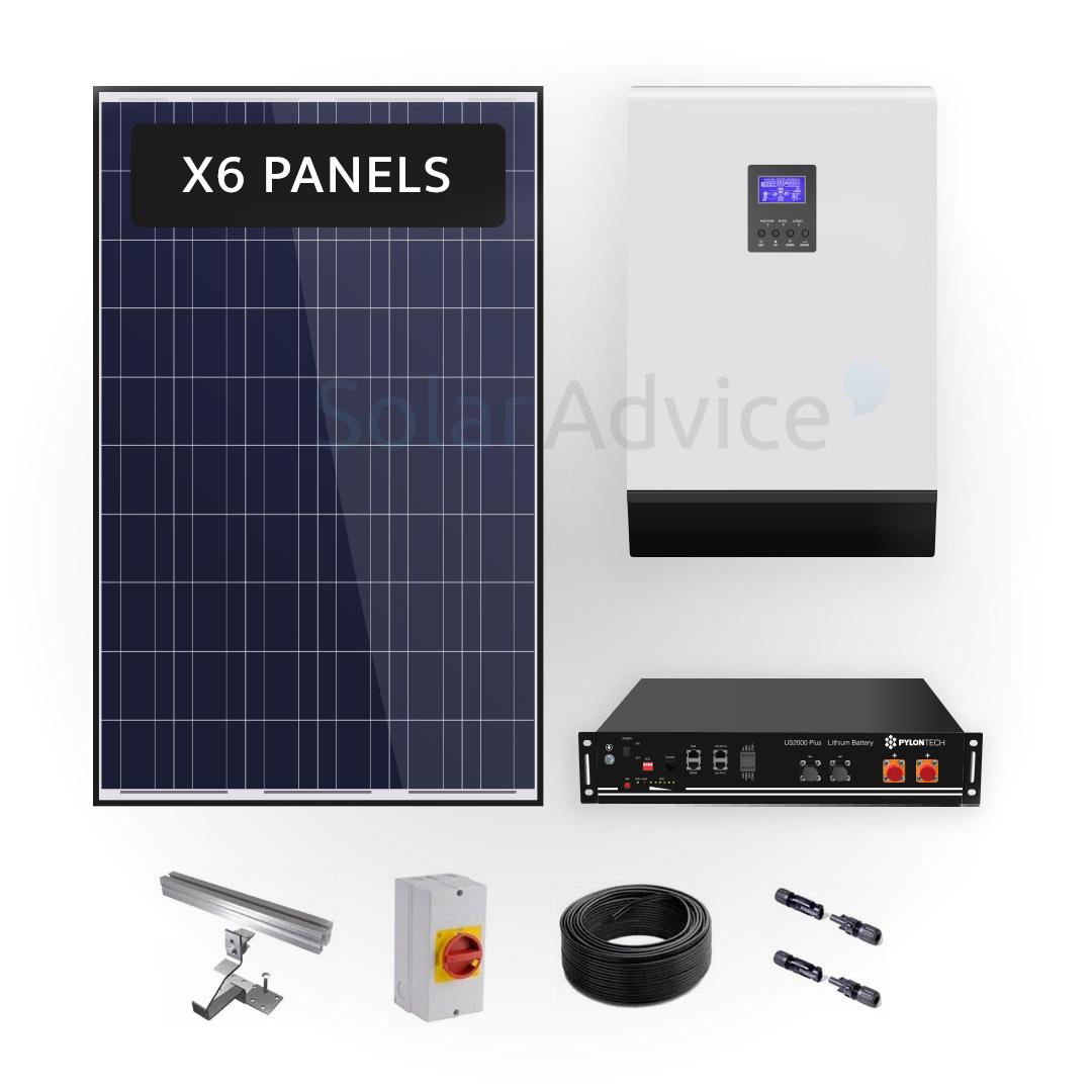 Lithium Storage 1.96kwh – Solar Power Kit
