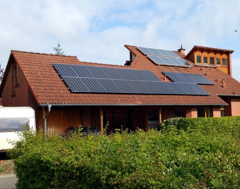 Solaranlage Photovoltaik in Vechelde mit Modulen von LG