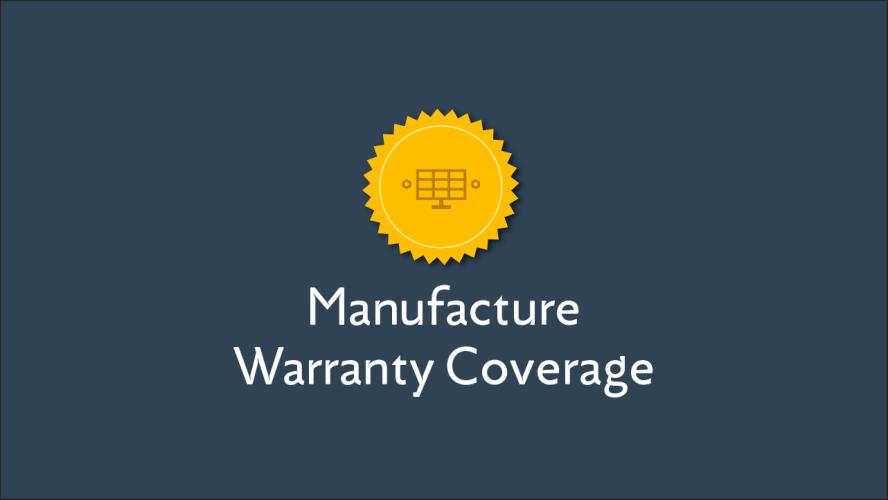 Manufacturer Warranty Coverage