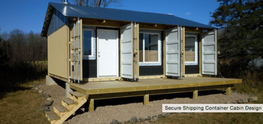 secure shipping container cabin - Secure Home Design