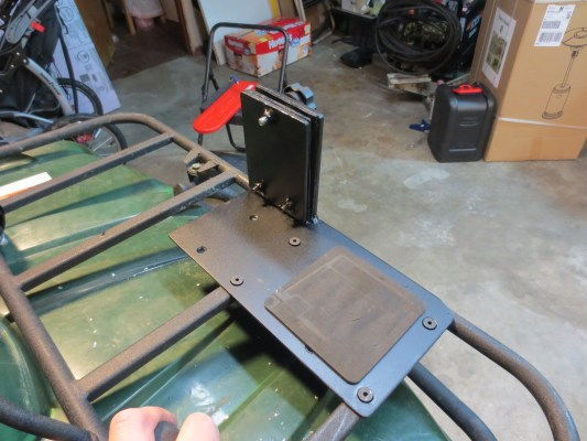 atv chainsaw mount