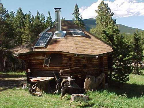 solar panel kit on off grid cabin