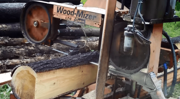 wood mizer mill at my cabin