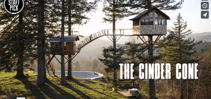 Cinder Cone Off grid solar power Treehouse