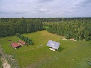 Solar track aerial