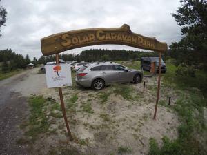 Solar Caravan Park entrance