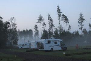 Solar Caravan Park - foggy evening
