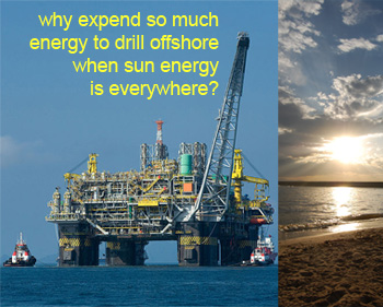 oil right with superimposed sun image on right