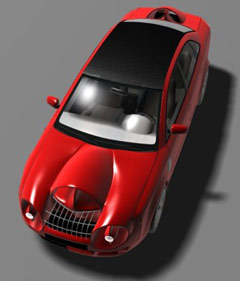 Artist's rendition of AirRay concept car.