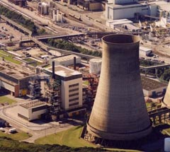 Nuclear power plant in UK.