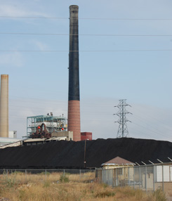 Picture of coal power plant.