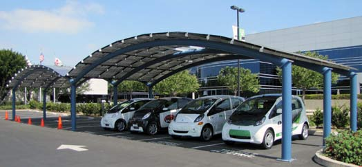 mitsubishi-solar-power-ev-station