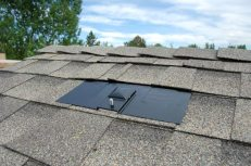 The first flashing and mount on the far southwest side of our roof.