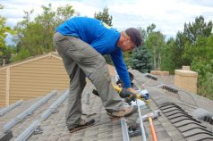Tim cuts conduit piping for the primary junction box at 11:30 a.m. on Day 2.