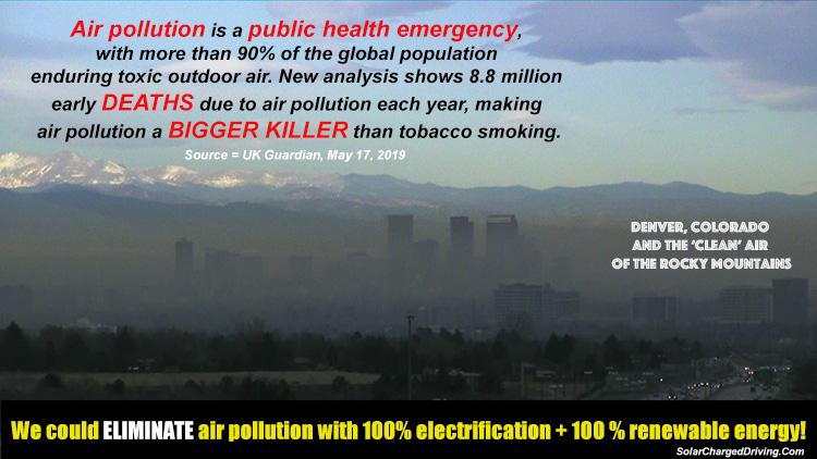 Air pollution in Denver, Colorado.