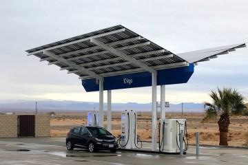 EVgo solar canopy EV charging station