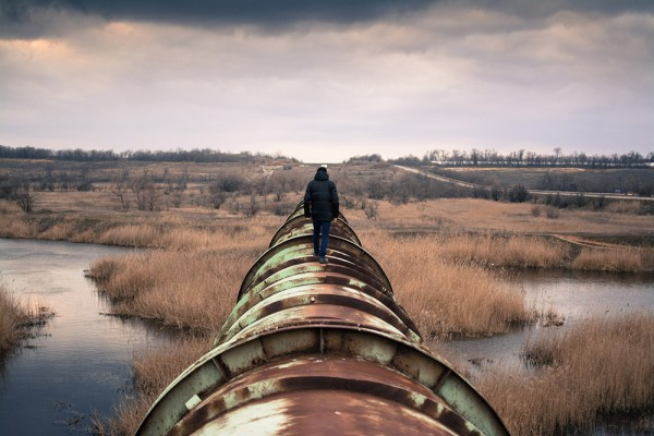 Picture of a Big Oil pipeline