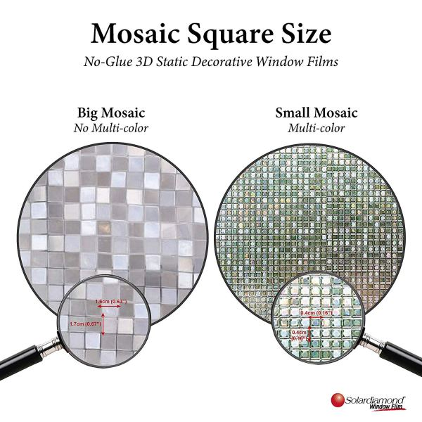 Solardiamond 3D Static Decorative Windows Films - Mosaic