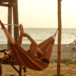 Camping hammock with beach view - Solarena Seaside Resort, Caba, La Union