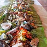Boodle Fight at Casa Mana Restaurant, Solarena Seaside Resort, Caba, La Union