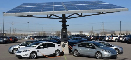 UBS Urges Investors To Get Ready For Energy Renaissance Thanks To     As electric vehicles gain popularity  more drivers utilize solar power for  recharging