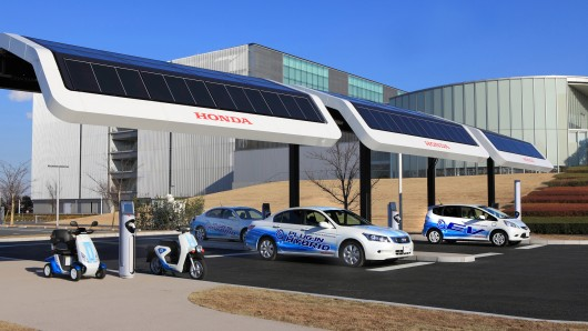 Honda S Solar Powered Ev Charging Station Solar Energy Facts