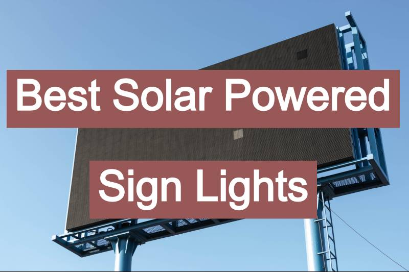 best solar sign lights