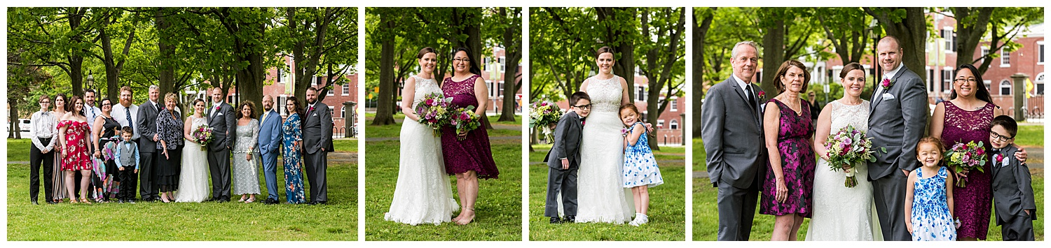 Hawthorne Hotel Wedding - family photos in Salem Commons
