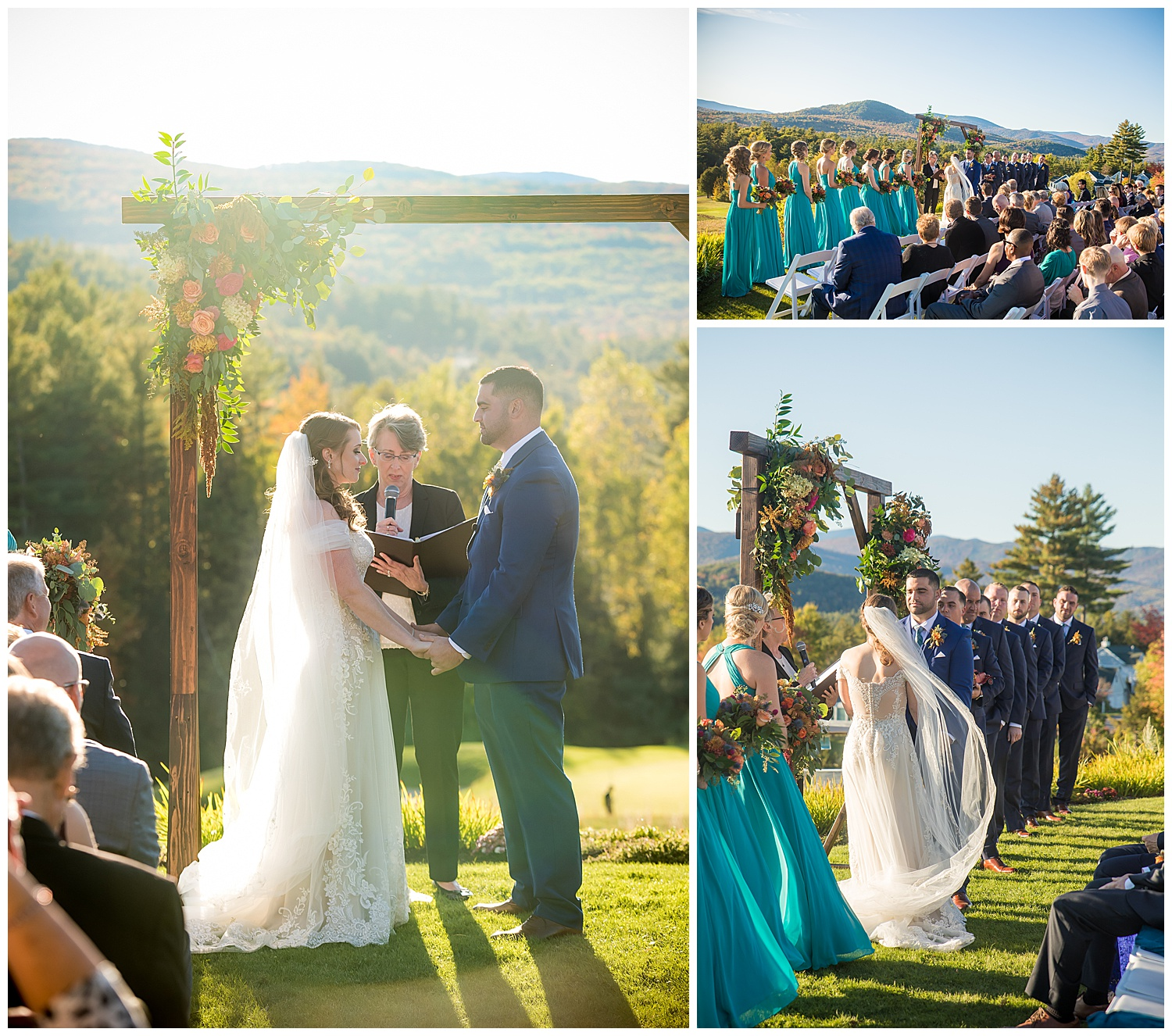Owl's Nest White Mountain Wedding - October Ceremony
