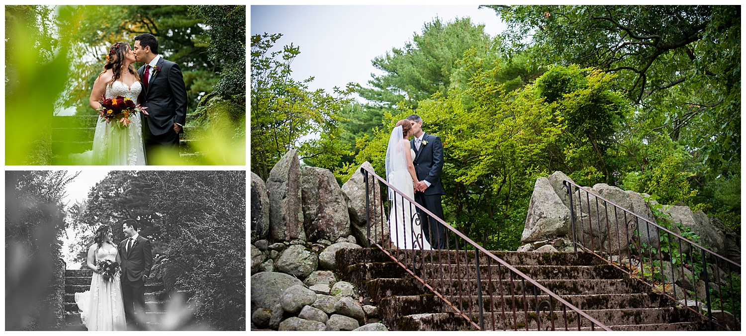 Moraine Farms Stone Steps Bride & Groom Portraits