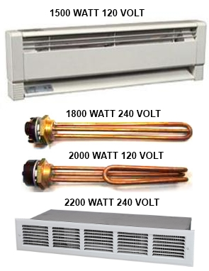 AC heating elements for diversion ,loads